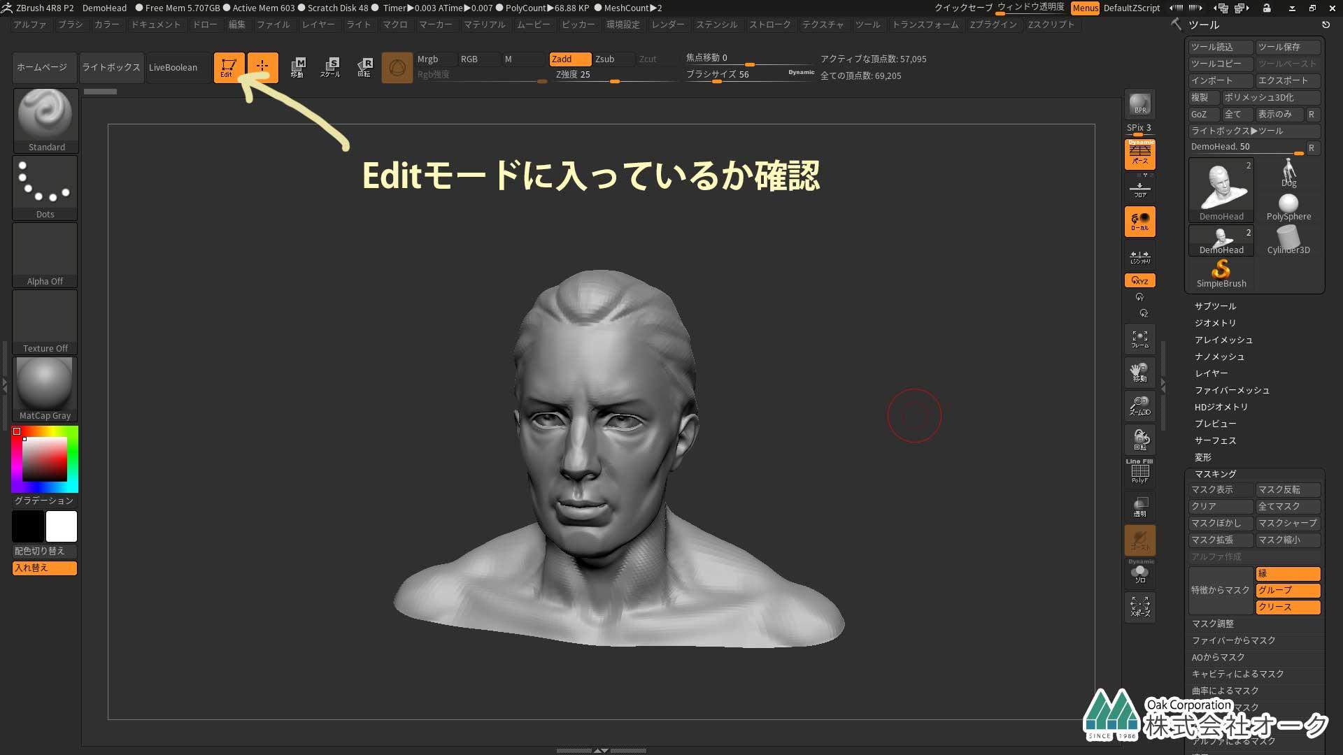 ZBrush Editモード
