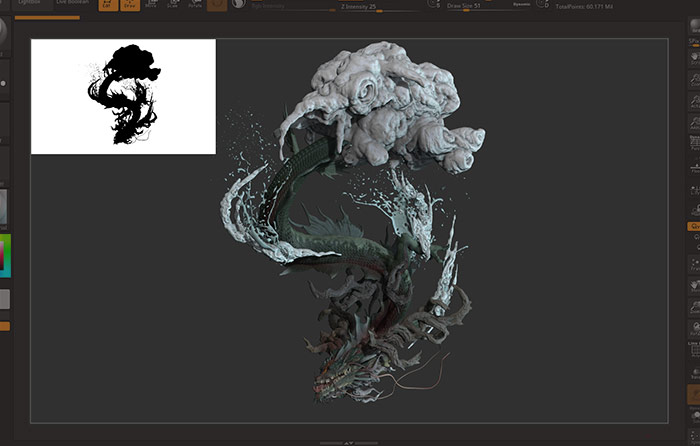 ZBrush2020 Document Silhouette View