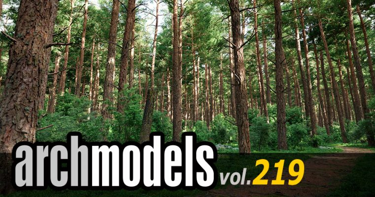 Archmodels vol. 219 針葉樹 がリリース