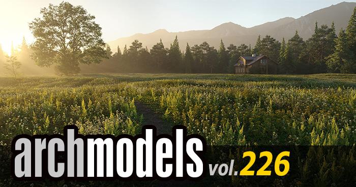 Archmodels vol.226 ローポリ植物セットがリリース