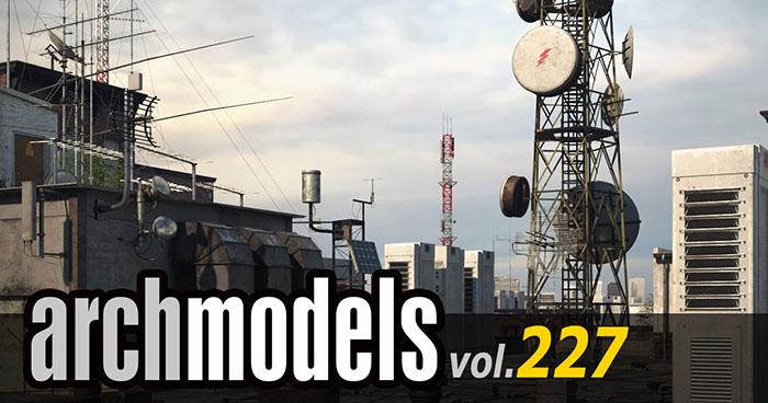 Archmodels vol.227 工業建築物セット がリリース