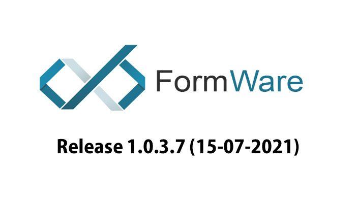 FormWare 1.0.3.7 アップデート